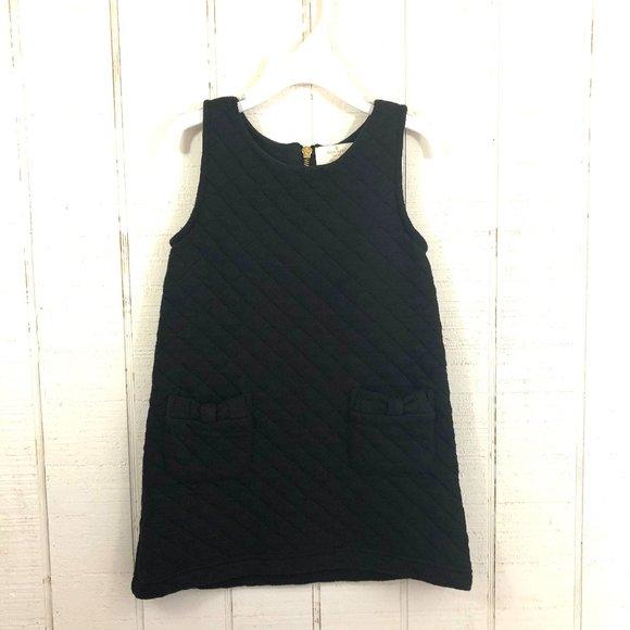 KATE SPADE Quilted Jumper Dress 4T Black
